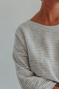 STRIPED DROP SLEEVE SHIRT