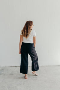 BLACK EASY SAILOR PANTS