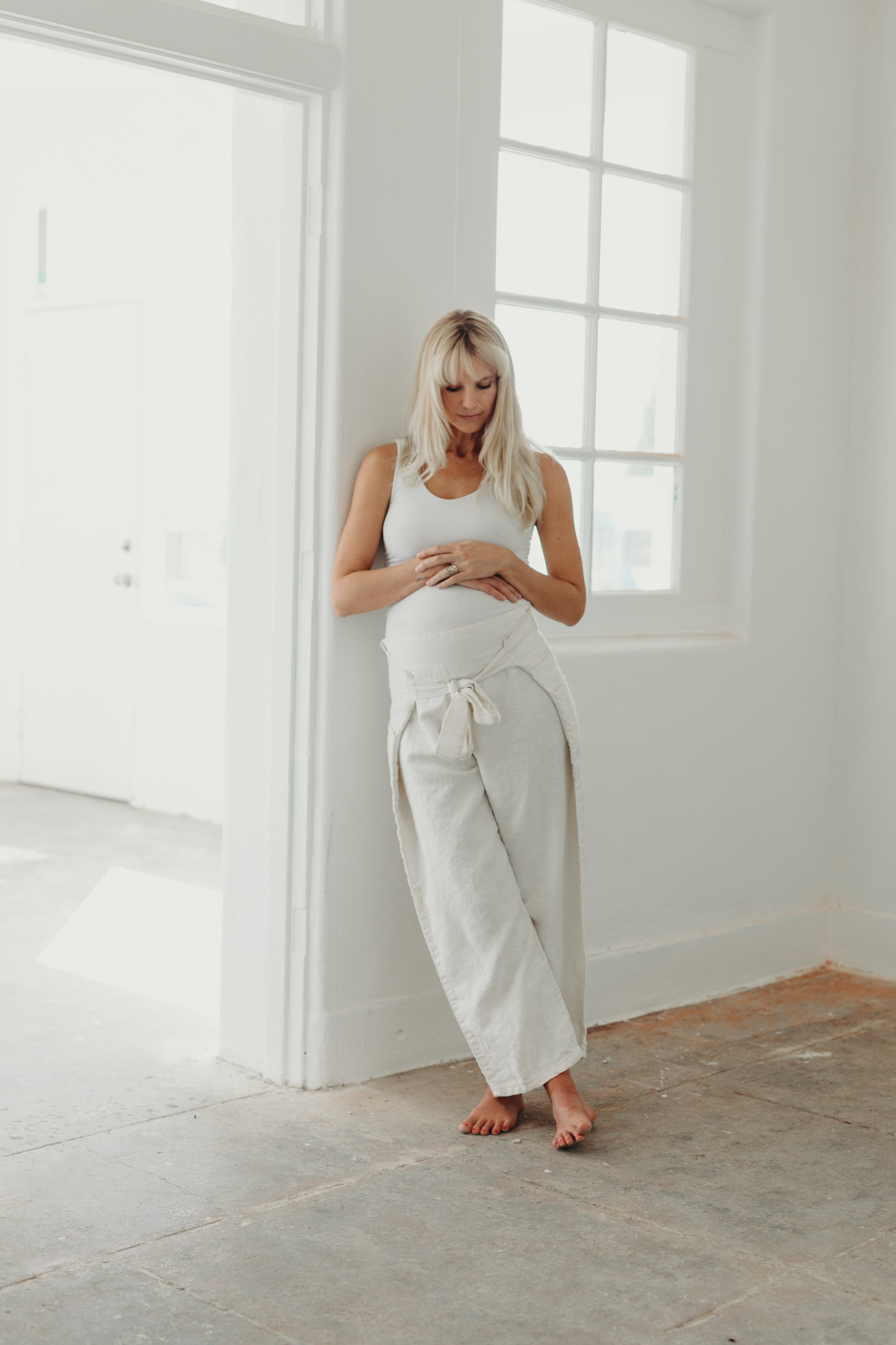 WRAP PANTS / OYSTER
