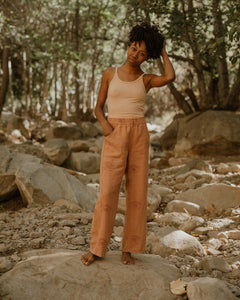 EASY SAILOR PANTS / CLAY EYE LINEN