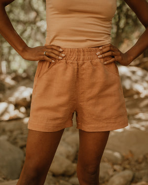 EASY SHORTS / CLAY LINEN