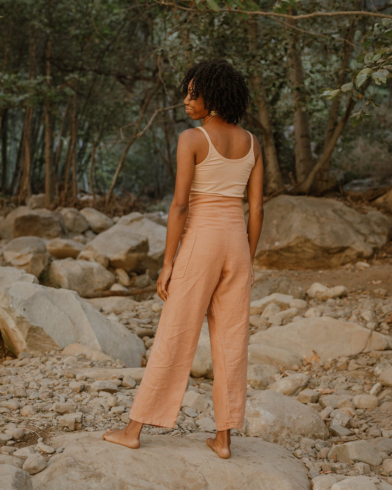 WRAP PANTS / CLAY LINEN
