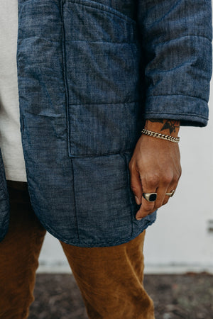QUILTED COAT / DENIM