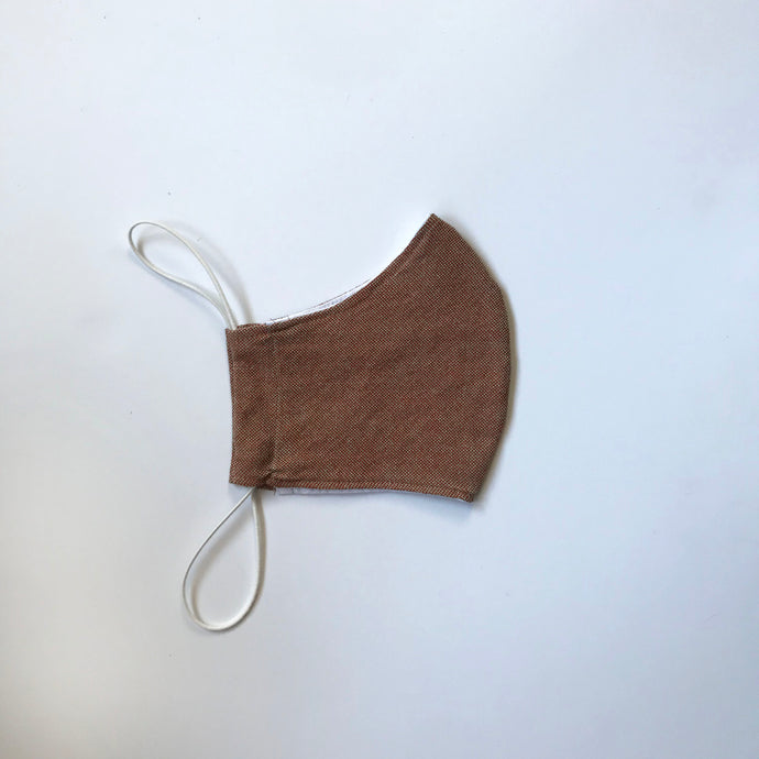 BROWN WOVEN FACE MASK