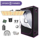 [New] Spider farmer SF2000 LED Grow Light Full Spectrum+140x70x200cm Grow Tent Kits Carbon Filter Indoor