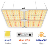 [New] Spider farmer SF-4000 LED Dimmable Grow Light 450w 3000K & 5000K, 660nm and IR 760nm (for ALL) with Samsung LM301B diodes Meanwell Driver
