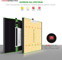 Vipar Spectra LED Grow Light Pro Series P1000 (100W / 3000 & 6500K / Dimmable / UV&IR / For ALL)