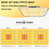 [New] Spider farmer SF-1000 LED Dimmable Grow Light 100w 3000K & 5000K, 660nm and IR 760nm (for ALL) With Samsung LM301B diodes Meanwell Driver