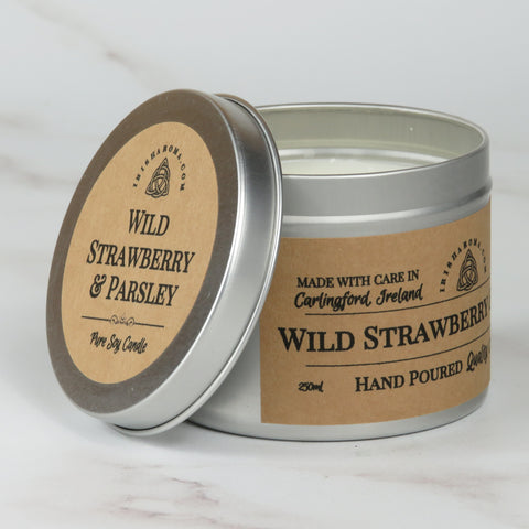 Wild Strawberry & Parsley - Handmade Soy Candle
