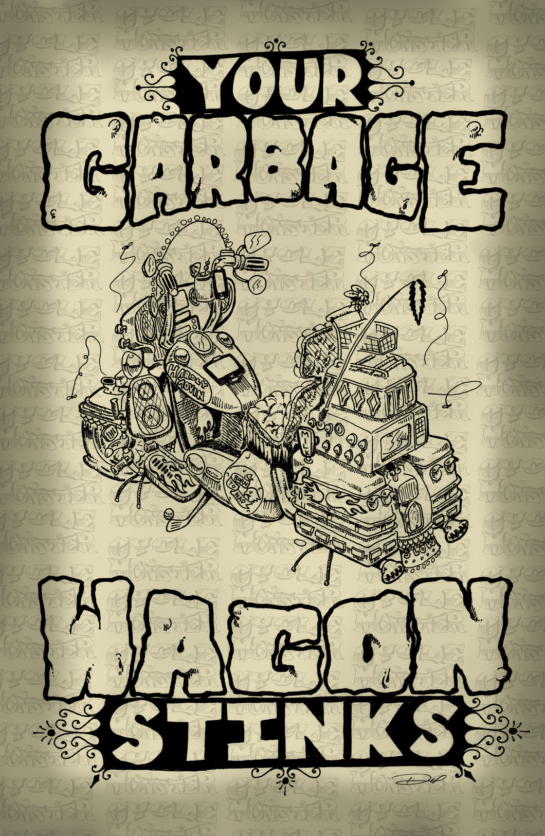 (12 poster) YOUR GARBAGE WAGON STINKS