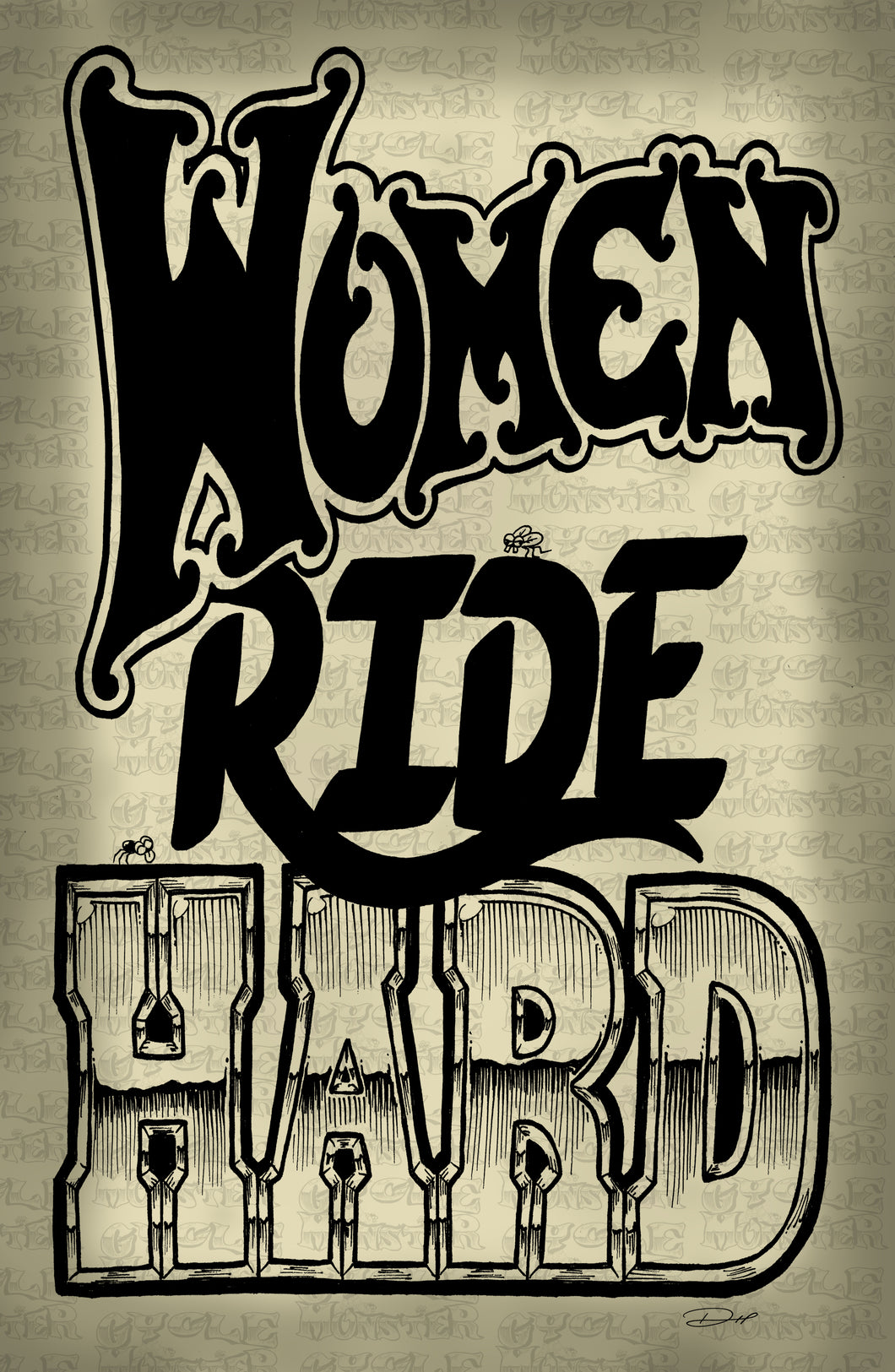 (14 poster) WOMEN RIDE HARD