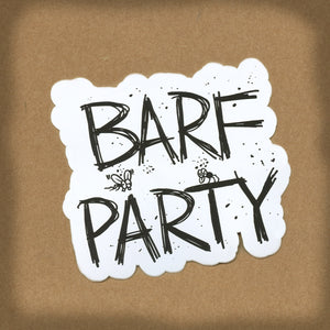 (07 decal) BARF PARTY