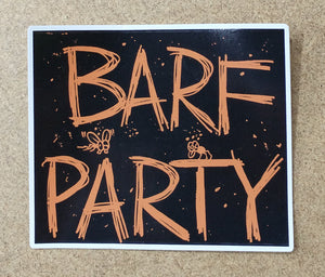 BARF PARTY decal (color)
