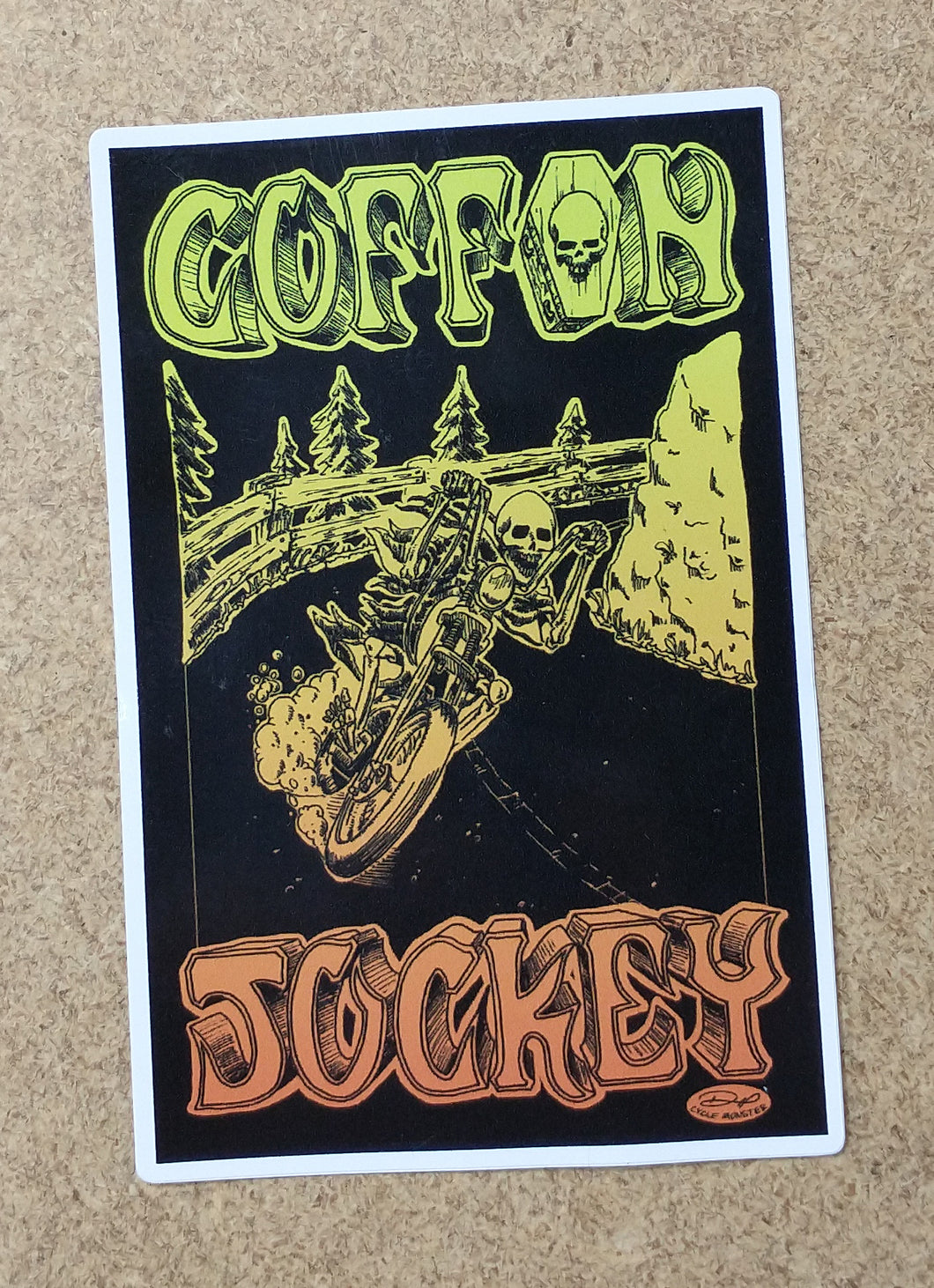 COFFIN JOCKEY decal (color)