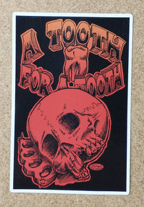 TOOTH FOR A TOOTH decal (color)