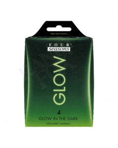 Four Seasons Glow In The Dark Condoms 4pk Glow N' Dark