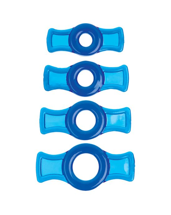 Titanmen Cock Ring Set Blue