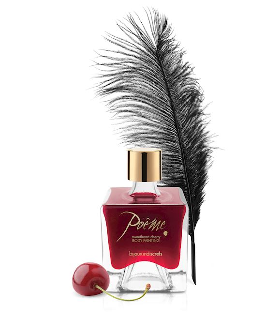 Bijoux Indiscrets Poeme Sweetheart Body Paint Cherry 50g Red