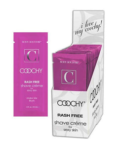 Coochy Shave Cream Blush Foil Pack 15ml Clear
