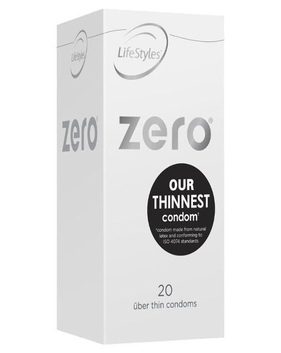 LifeStyles Healthcare Zero Uber Thin Condoms 20pk Clear