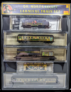 "Micro-Trains ""Dr Morts Creepy Carnival"" train set"