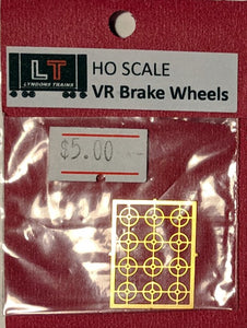 VR 4 spoke etch brass brake wheels
