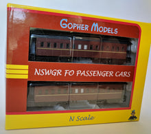 Load image into Gallery viewer, Gopher Models NSWGR FO Passenger cars N Scale RTR
