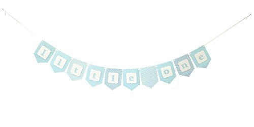 Little One Banner Bunting Laser Cut Felt 50 Inches Wide - Baby Shower - Blue