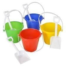 5 Inch Pail And Shovel Sets (4/Pack)