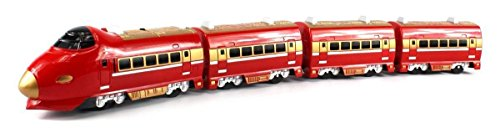 Super 757 Passenger Express Battery Operated 28  Bump &Amp; Go Toy Train Car W/Sounds (Colors May Vary)