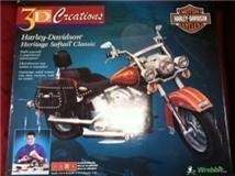 3D Creations - Harley Davidson Heritage Softail Classic -Build Yourself A Paperboard Masterpiece - (Read Condition Notes)
