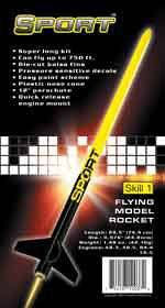 Custom Flying Model Rocket Kit Sport 10037