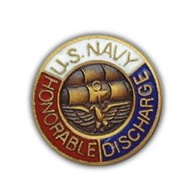 Usn Honorable Discharge Lapel Pin