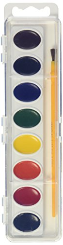 Crayola Artista 8 Semi-Moist Oval Pans Watercolor Set With Brush