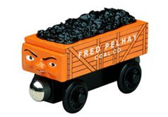Thomas The Tank Engine &Amp; Friends Wooden Railway Train:  Fred The Orange Coal Car