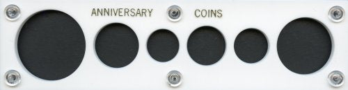 Capital Plastic 2  X 7.5  Acrylic Panel Screw Together Holder  Anniversary Coins  6-Coin Holder - Large Dollar - White