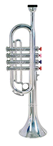 Bontempi 32 4231 4 Notes Silver Trumpet, 42 Cm, Multi-Color