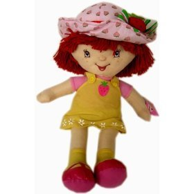 Strawberry Shortcake Plush 19  Doll : In Yellow Dress