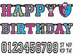 Amscan Jumbo Add-An-Age Letter Banner | Monster High Collection | Birthday | 6 Kits