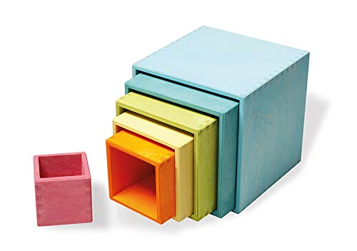 Grimm'S Large Set Of Pastel Stacking Boxes