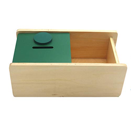 New Sky Enterprises Montessori Infant Coin Box Object Permanence Box Color Shape Matching Game Early Development Material