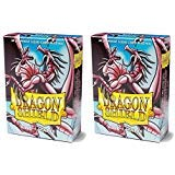 Dragon Shield Bundle: 2 Packs Of 60 Count Japanese Size Mini Matte Card Sleeves - Matte Pink
