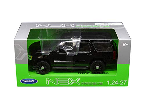 Welly 1/24 Scale (7 ) 2008 Black Chevrolet Tahoe Unmarked Police Version Diecast Model Car