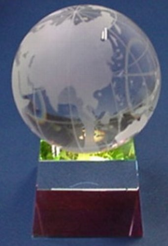 Crystal Globe & Prism Base