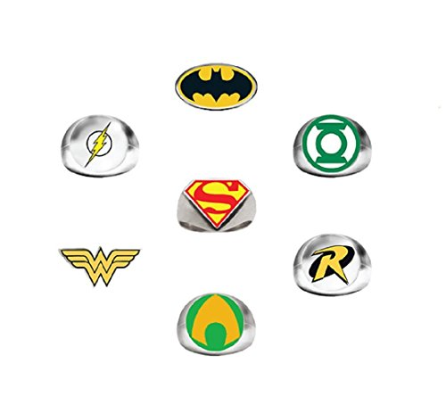 Dc Comics Super Hero Power Rings (7 Ct)