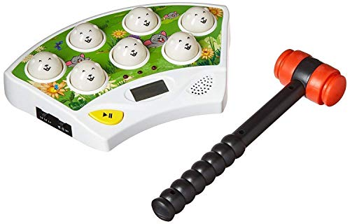 Catchstar Wack A Mole Mouse Fast Reflexes Whack A Mole Game Language Learning Durable Musical Whac Wackamole Educational Toys For Kids Green (White)
