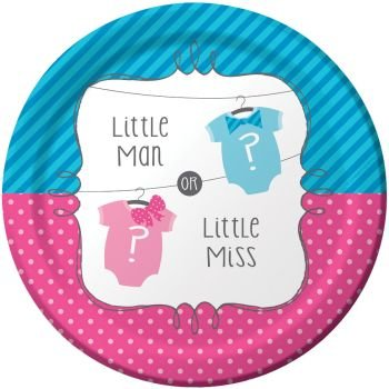 Little Man Or Little Miss 9  Lunch/Dinner Plates (8 Ct)