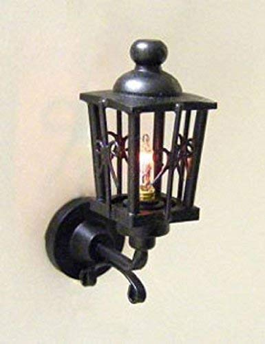 Cir-Kit Concepts Dollhouse Miniature 12V Coach Lamp, Ornate - Black