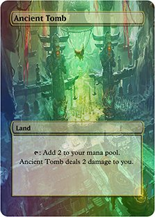 Ancient Tomb - Casual Play Only - Customs Altered Art Foil
