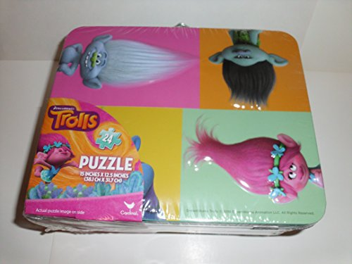 Trolls Metal Lunch Box With Puzzle